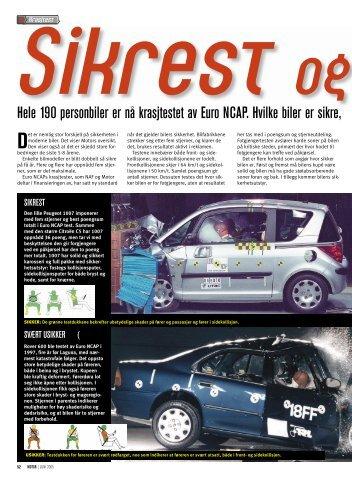 Hele 190 personbiler er nå krasjtestet av Euro NCAP. Hvilke biler er ...