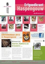 Erfgoedkrant april 2013 - Erfgoedcel Haspengouw
