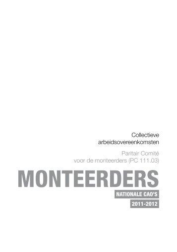 Collectieve arbeidsovereenkomsten monteerders (PC 111.03) - Aclvb