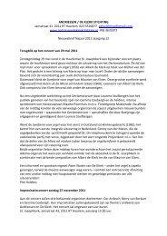 najaar 2011.pdf - Andriessen De Klerk Stichting