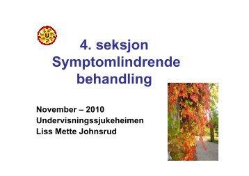 4 seksjon Symptomlindrende behandling