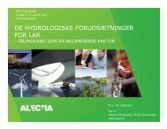 de hydrologiske forudsætninger for lar - ATV Jord og Grundvand