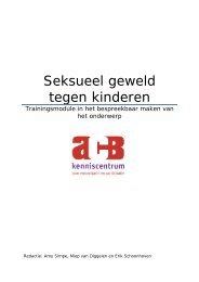 Seksueel geweld tegen kinderen (Training) - ACB Kenniscentrum