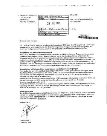 2 8 JUL 2011 - Raads - gemeente Hellendoorn