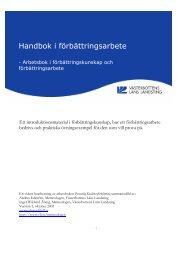 Handbok i förbättringsarbete - Region Västerbotten