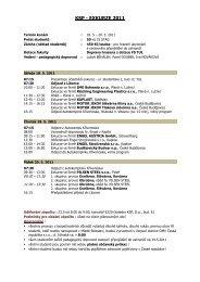 Harmonogram exkurze KSP 2011 - Katedra strojírenské technologie