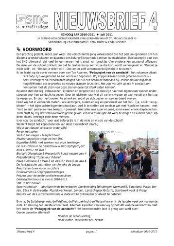  VOORWOORD - St. Michaël College Zaanstad