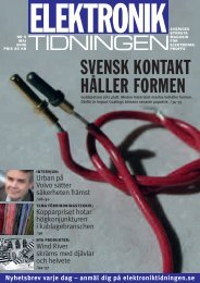 05-2006, Tema Förbindningsteknik (7 Mbyte, pdf) - Elektroniktidningen