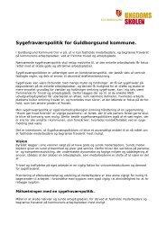 Sygefraværspolitik for Guldborgsund kommune.