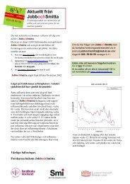 Nyhetsbrev 5: Maj 2012 - JobbochSmitta.se