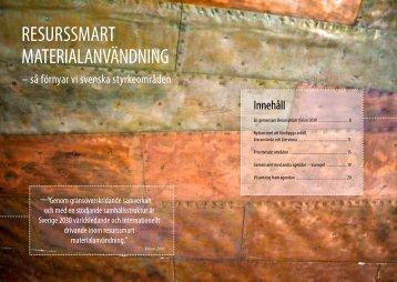 RESURSSMART MATERIALANVÄNDNING - The Stena Metall Group