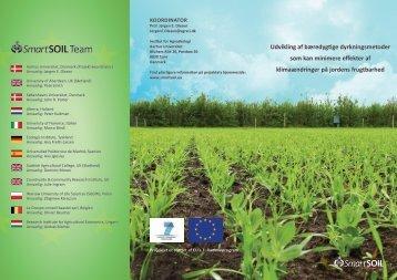 Udvikling af bæredygtige dyrkningsmetoder som kan ... - SmartSOIL