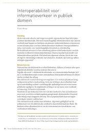 Interoperabiliteit voor informatie verkeer in publiek domein ...