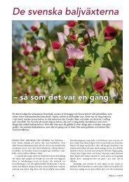 De svenska baljväxterna - Fobo