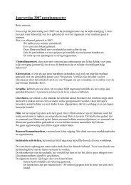 Jaarverslag 2007 penningmeester - Wijkvereniging De Blauwe Tram