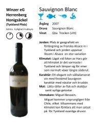 Winzer eG Herrenberg Honigsäckel (Tyskland Pfalz) - Pixbo Vin