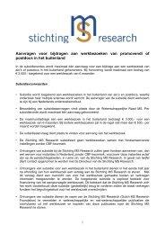 Algemene richtlijnen werkbezoek - Stichting MS Research