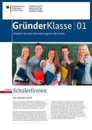 GründerKlasse 01 - Unternehmergeist in die Schulen