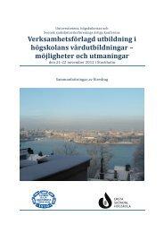 Abstraktsamling VFU 2012 (pdf öppnas i nytt fönster) - Svensk ...