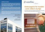 Undersøgelse for mastitis - nemt, sikkert, hurtigt - Eurofins Medinet
