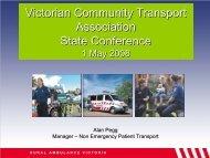Rural Ambulance Victoria - Victorian Community Transport Association