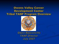Owens Valley Career Development Center Tribal TANF ... - OVCDC