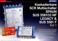 Kaskadierbare SCR Multischalter SPAUN SUS 5581/33 NF LEGACY & SUS 5581 F