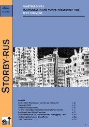 Storbyrus nr. 1/08 - Velferdsetaten