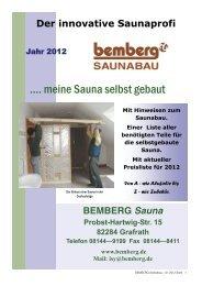 .... meine Sauna selbst gebaut - Bemberg