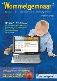 Website herboren! - Gemeente Wommelgem