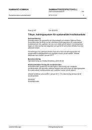 Tillsyn, ledningssystem för systematiskt kvalitetsarbete - Hammarö ...