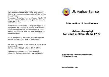 Læs om uddannelsespligt, folder på dansk (pdf 95 KB) - UU Aarhus ...