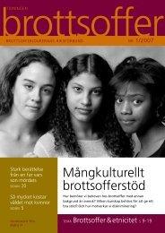 Läs tidning nummer 1 2007 här. - Tidningen Brottsoffer
