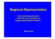 Regional Representation - AeroCom