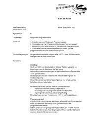 Instellen regionale programmaraad. - Gemeente Drimmelen - 3 juli ...
