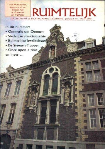Ruimtelijk maart 2001 - Stichting Ruimte Roermond