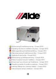 Bruksanvisning & installationsanvisning – Compact 3010 Operating ...
