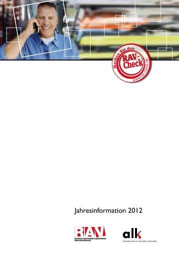 Jahresinformation 2012 - RAV OW-NW