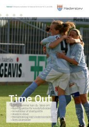 Time Out - Haderslev Elitesport - Haderslev Kommune