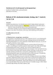 Referat af 125. studienævnsmøde, tirsdag, den 7. marts kl. 16.15 ...