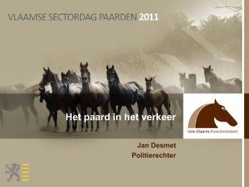 Het paard in het verkeer - Vlaams Paardenloket