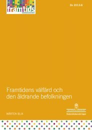 """Framtidens välfärd och den åldrande befolkningen"""" (pdf) - Sveriges ..."""