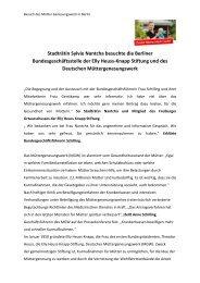 Besuch des Müttergenesungswerk in Berlin - Sylvie Nantcha