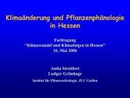 Vortrag - Fachzentrum Klimawandel Hessen - Hessisches ...