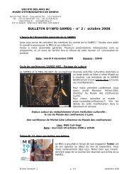 Bulletin numéro 2 - Octobre 2008 - SA | MEG