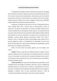 AVALIAÇÃO NEUROPSICOLÓGICA INFANTIL A Avaliação ...