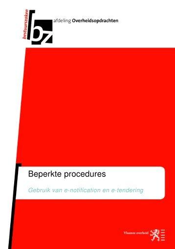 beknopte handleiding beperkte procedures - Bestuurszaken