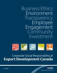 Corporate Social Responsibility brochure - EDC