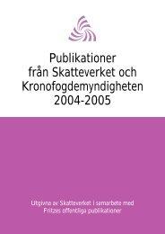 SKV 147 utgåva 8, Publikationer från Skatteverket och ...