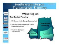 Expansion Plan West - Southeastern Regional Transmission Planning